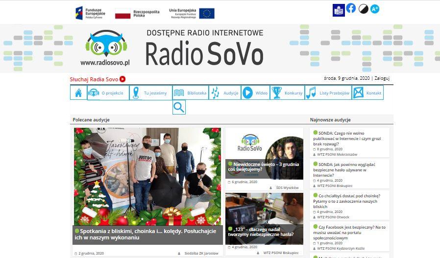 Radio SoVo – dostępne radio internetowe, pierwszy taki portal w Polsce!